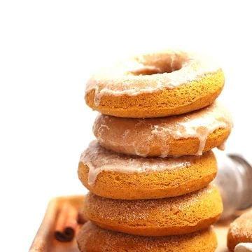Stack of vegan donuts
