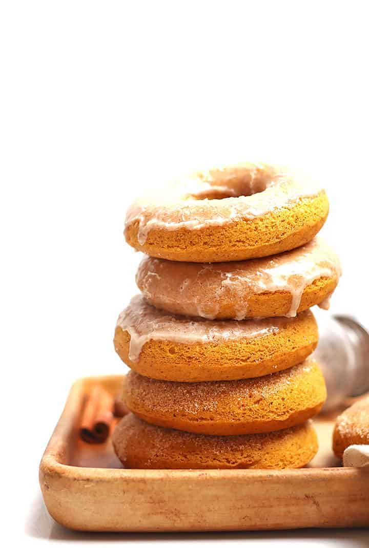 Stack of Pumpkin Spice Doughnuts