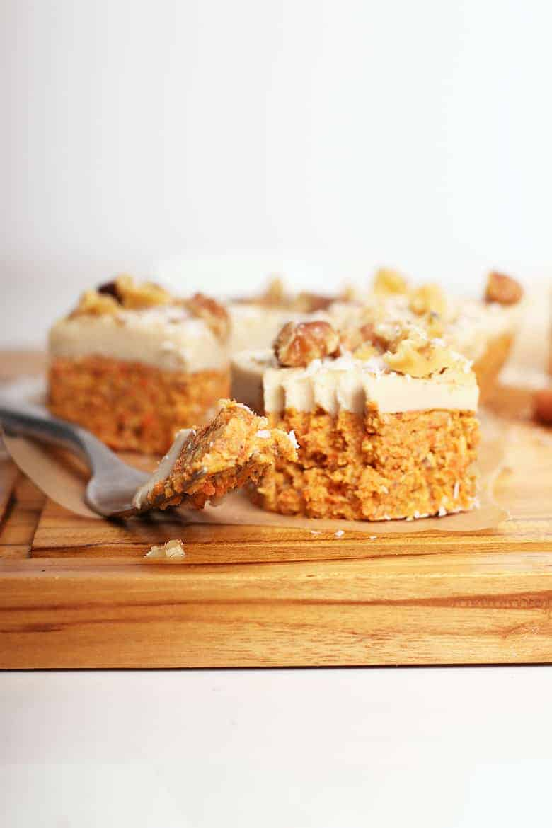 Raw Carrot Cake With Cashew Cream Cheese Frosting My Darling Vegan