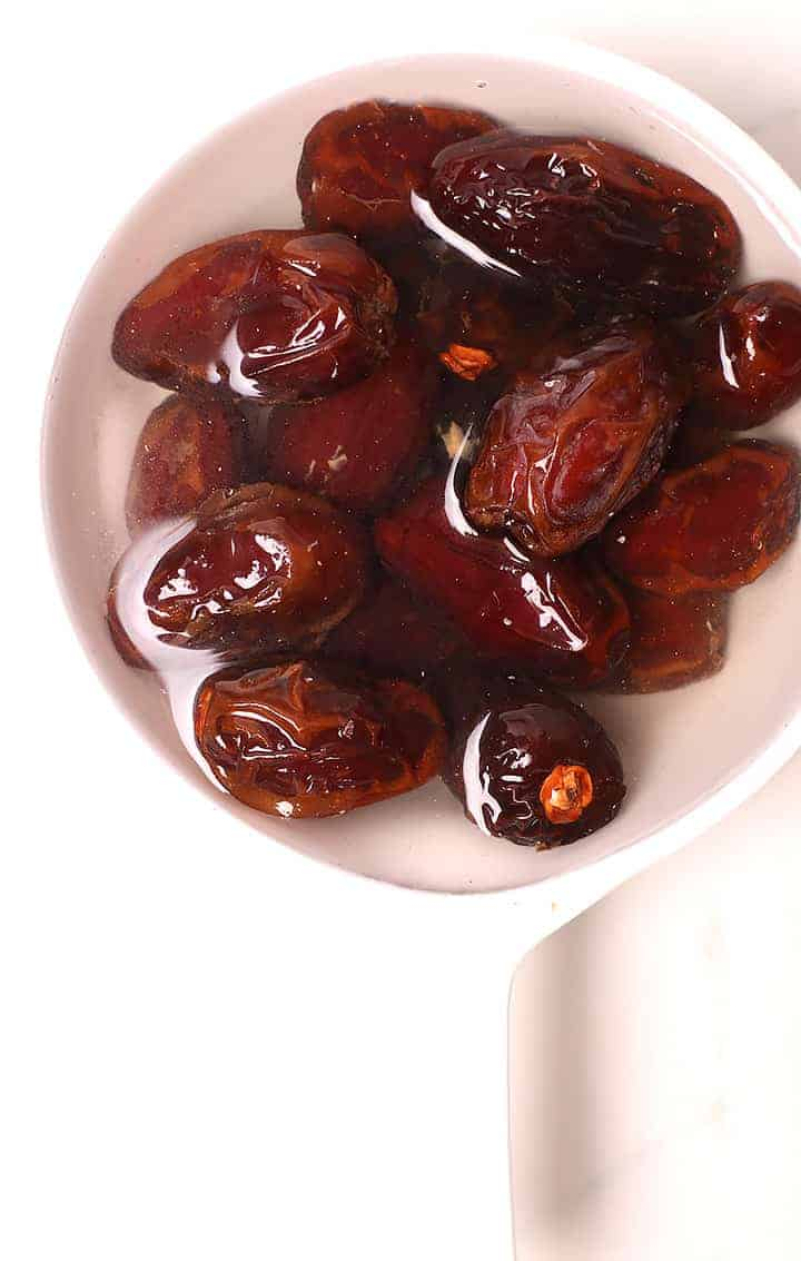 Medjool Dates soaked in water