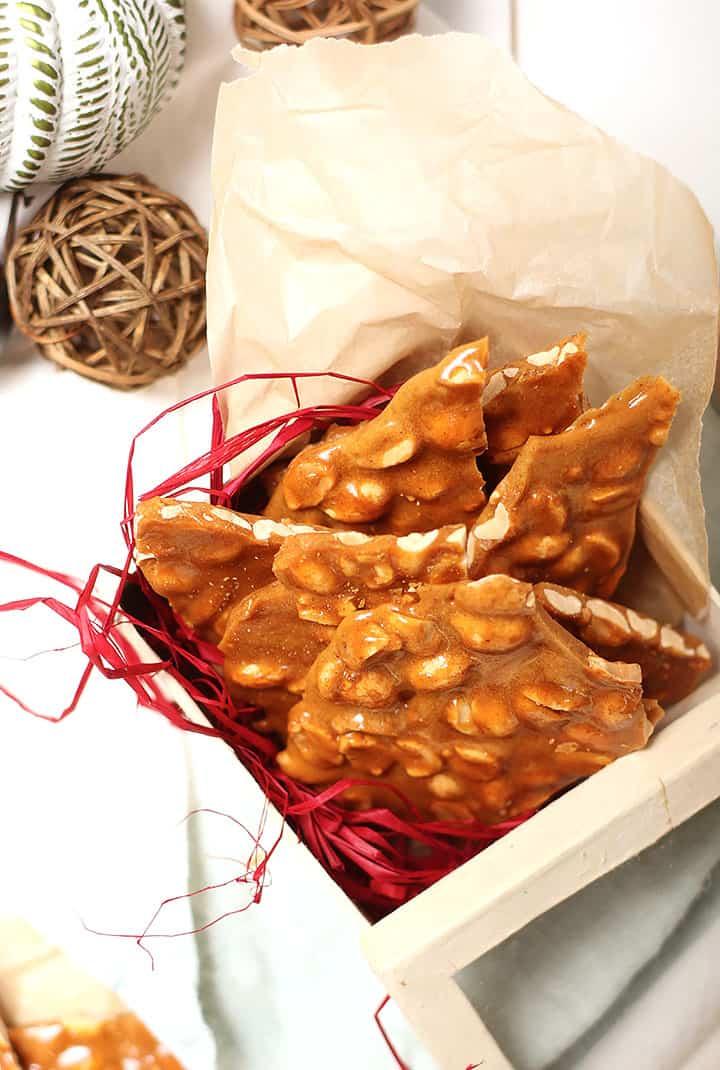 Peanut Brittle in a box