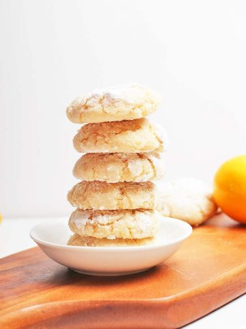 Stack of finished cookies