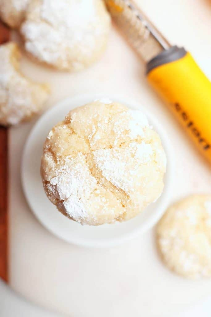 Finished lemon crinkle cookies