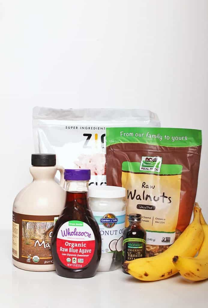 Ingredients for Chunky Monkey Ice Cream