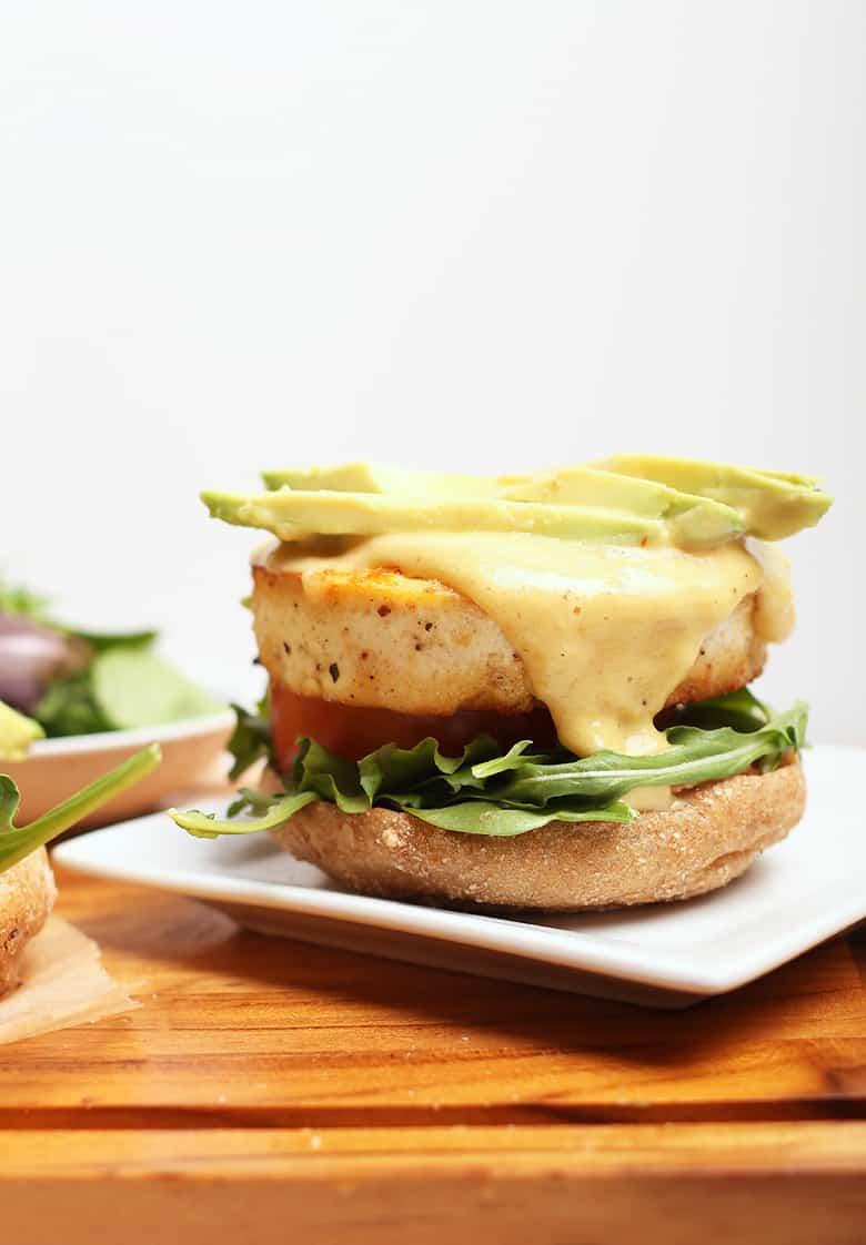 Tofu Benedict with avocado