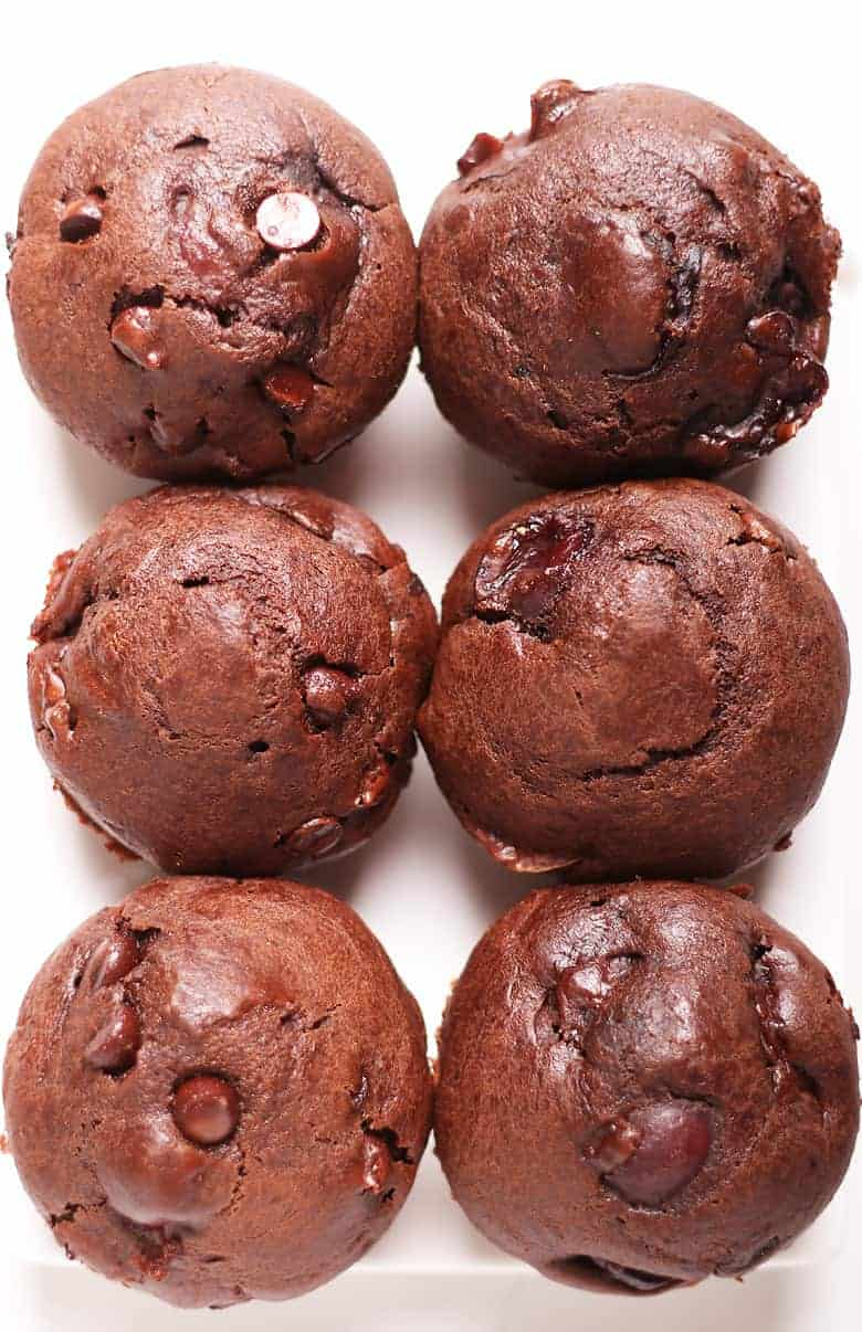 Double Chocolate Cherry Muffins