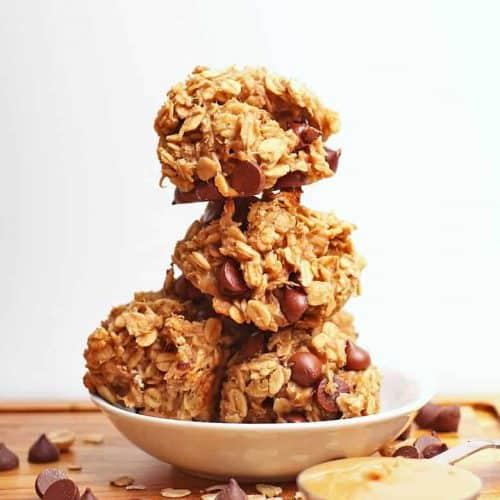 Stack of 4-ingredient cookies