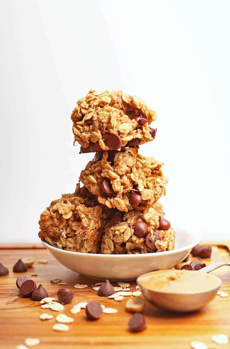 Stack of 4-ingredient cookies