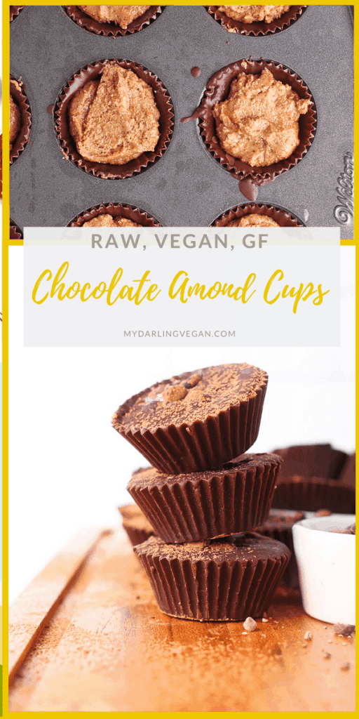 You're going to love these Chocolate Almond Butter Cups. This sweet and salty dessert is made with raw ingredients making it vegan, gluten-free, soy-free, and refined sugar-free. It's the perfect sweet treat for your 30-day cleanse.