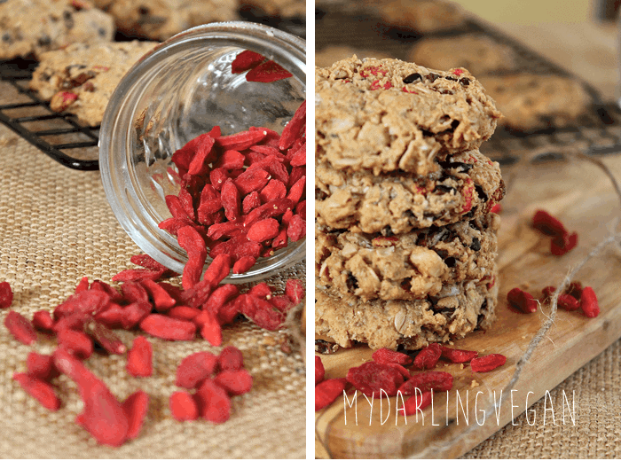 Cacao Goji Berries Cookies
