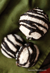 Raw Chocolate Dipped Coconut Macaroons