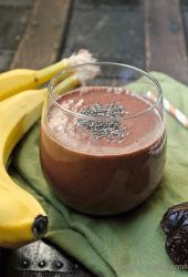 Raw Banana Cacao Breakfast Smoothie