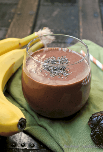 Raw Banana Cacao Breakfast Smoothie