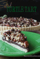 Chocolate Turtles Tart