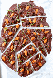 Chocolate Bark with Rosemary and Almonds