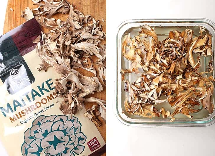 Dried Maitake mushrooms