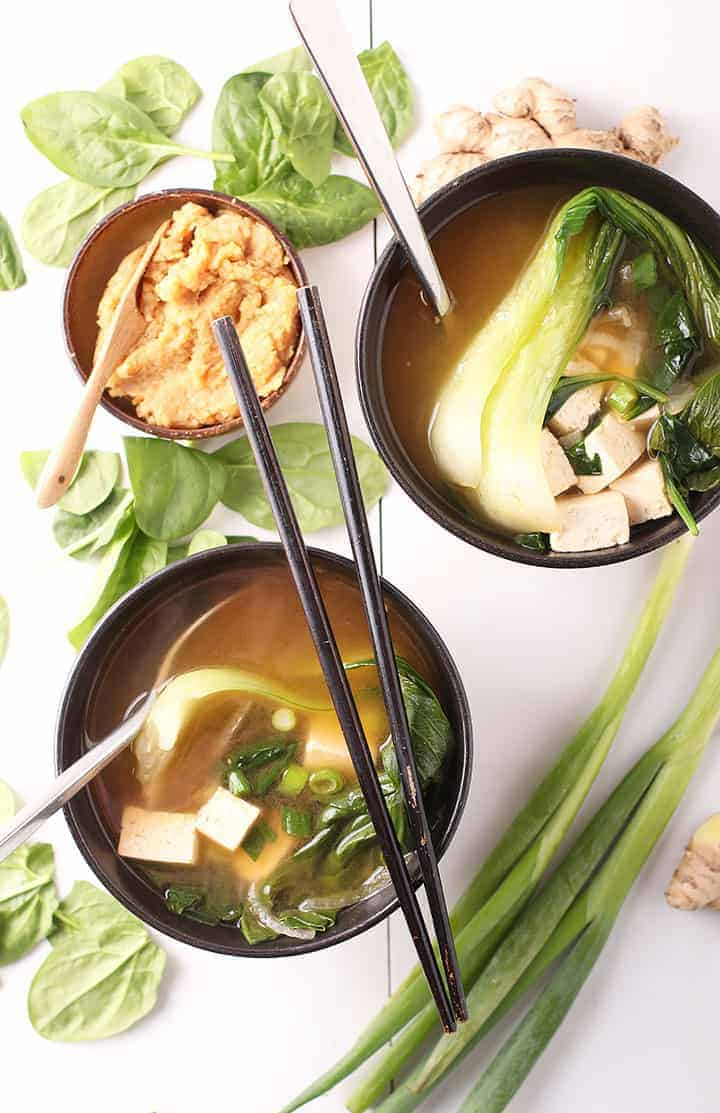 Classic 10-Minute Vegan Miso Soup - My Darling Vegan
