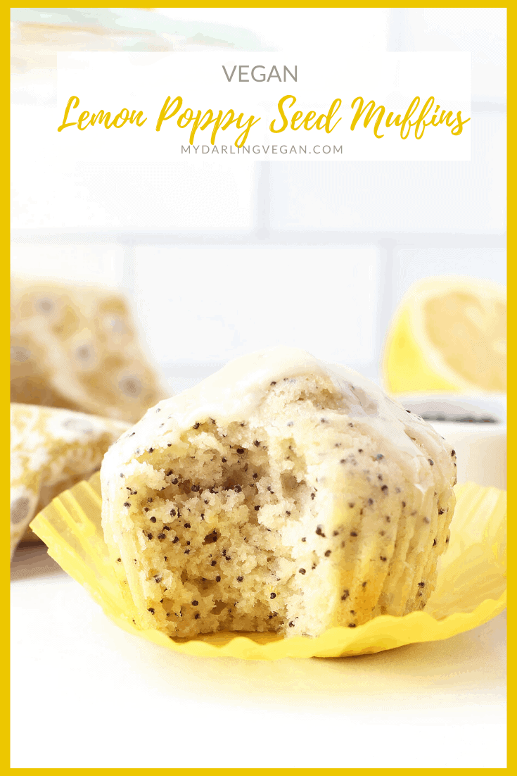Wake up to these PERFECT Vegan Lemon Poppy Seed Muffins. They are everything you want in a muffin: moist, citrusy, sweet, and with a little crunch. Make them in under 30 minutes!