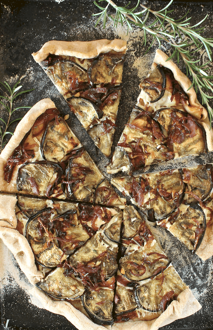 Eggplant and caramelized onion pizza my darling vegan for Can vegans eat fish