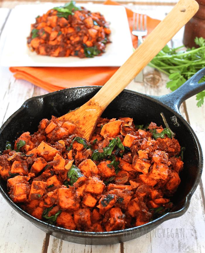 Vegan sweet potato chorizo hash my darling vegan for Can vegetarians eat fish