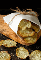 Baked Potato Chips with Wasabi