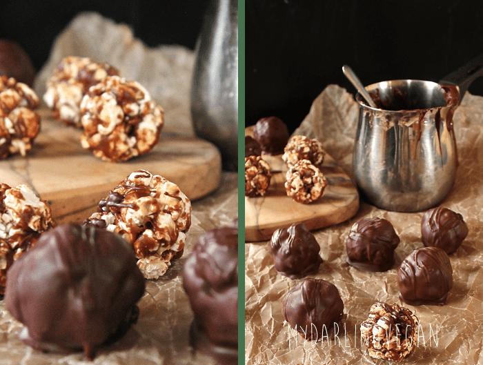 Chocolate Popcorn Truffles