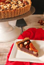 Vegan Chocolate Tart with Hazelnuts and Orange