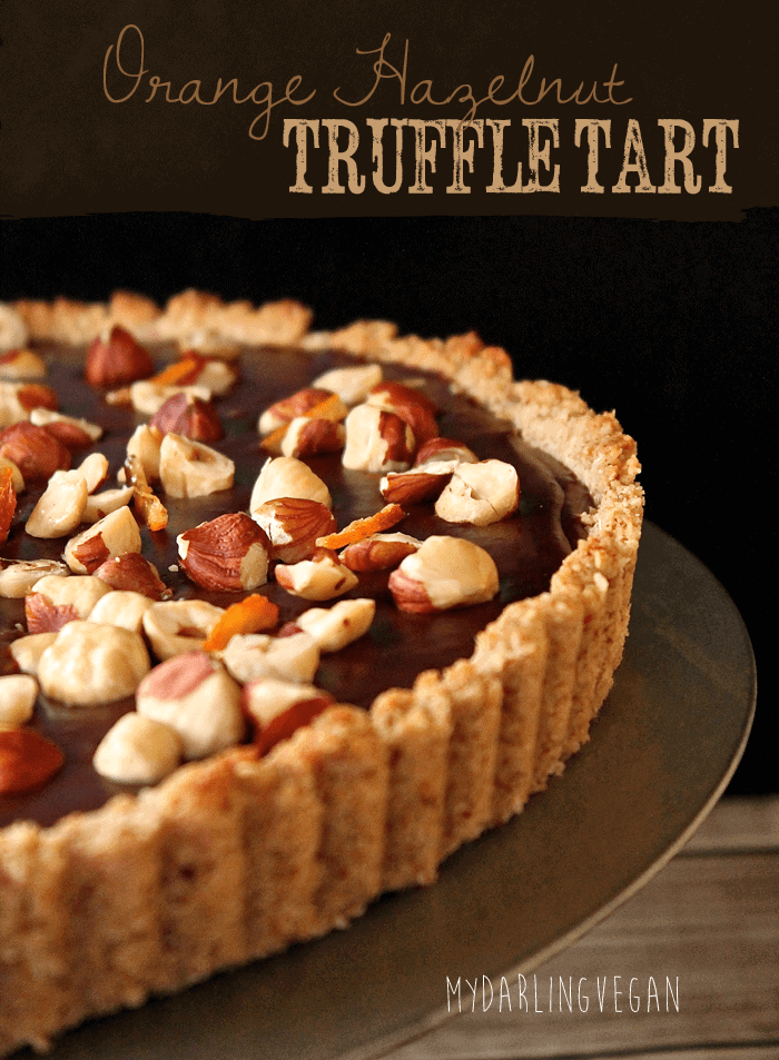Chocolate Orange Hazelnut Truffle Tart