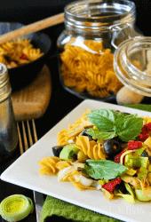 Mediterranean Lemon Pasta (Gluten Free!)