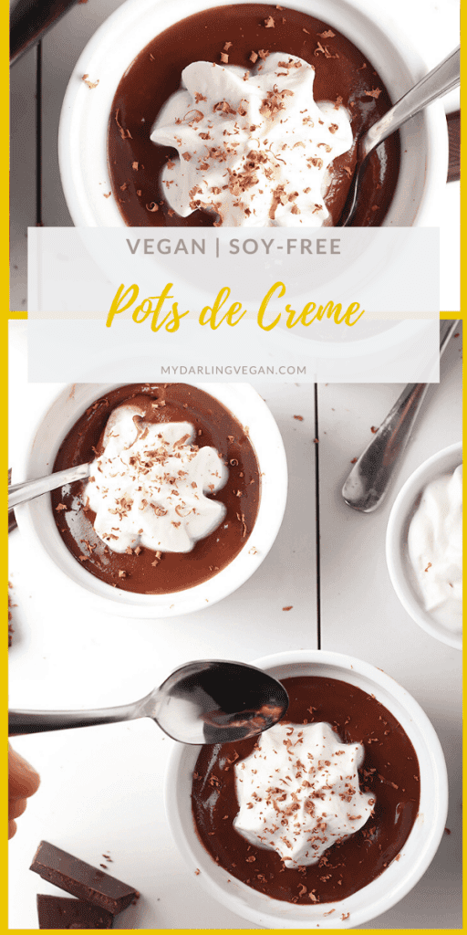 These vegan pots de creme are so unbelievably rich, and creamy that no one will believe they are vegan! Made cashews mixed with chocolate, Silk® Half & Half, and maple syrup, this classic recipe will have you asking for more.
