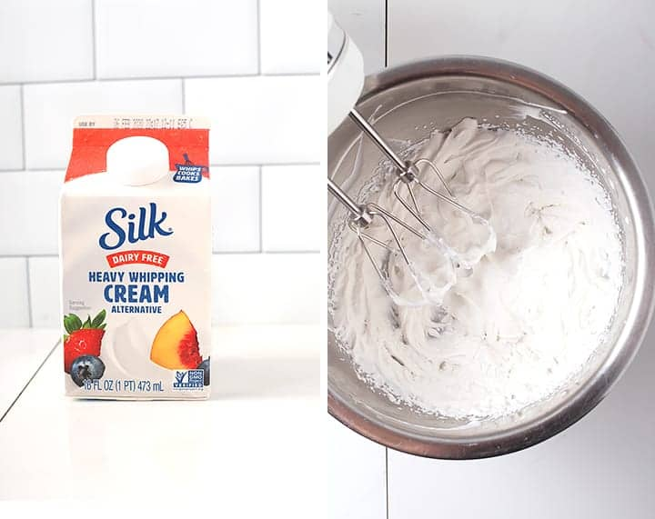 Silk Heavy Whipping Cream in mixing bowl