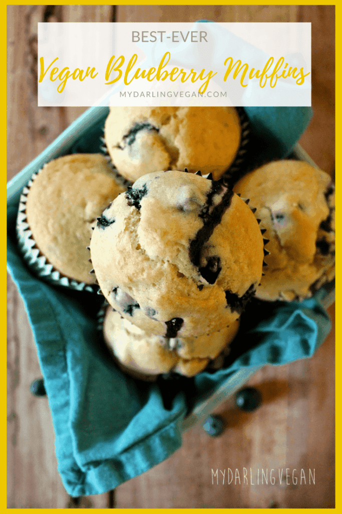 These vegan blueberry muffins are soft and sweet with a hint of lemon and fresh blueberries in every bite for the perfect morning or midday snack.