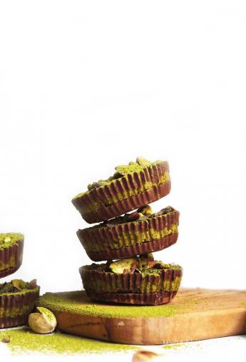 Pistachio Matcha Chocolate Cups
