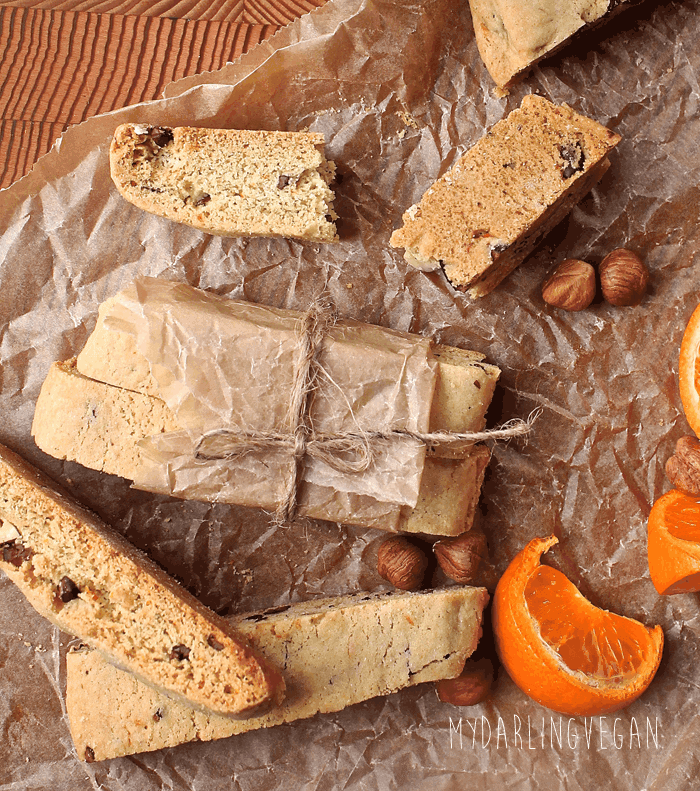 Vegan Orange Hazelnut Biscotti