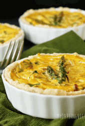 Sun-Dried Tomato and Asparagus Vegan Quiche