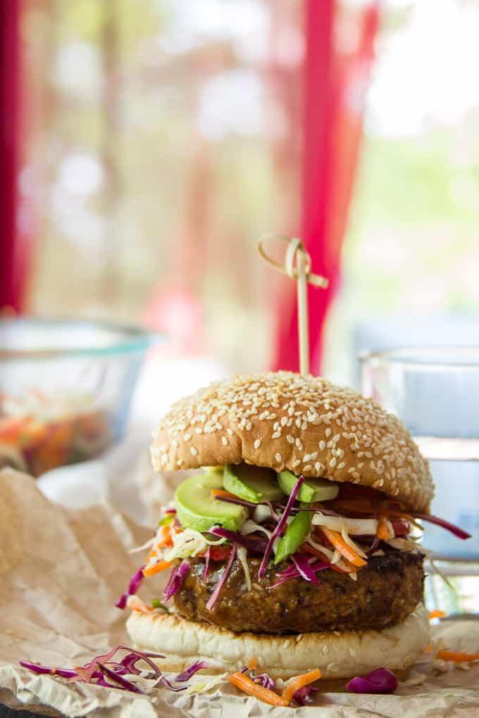 Teriyaki Tempeh Burger