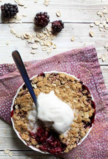 Blackberry Bourbon Crisp