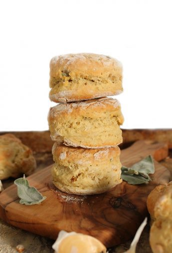 Vegan Sage & Garlic Buttermilk Biscuits