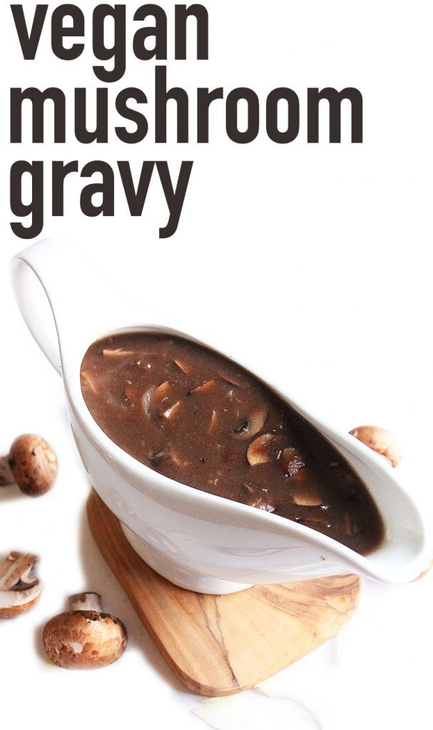 You will want to pour this vegan mushroom gravy everything! Made with portobello mushrooms and red wine, it is rich and deep in flavor. Gluten-free adaptable for a delicious and inclusive choice for holiday dinners.