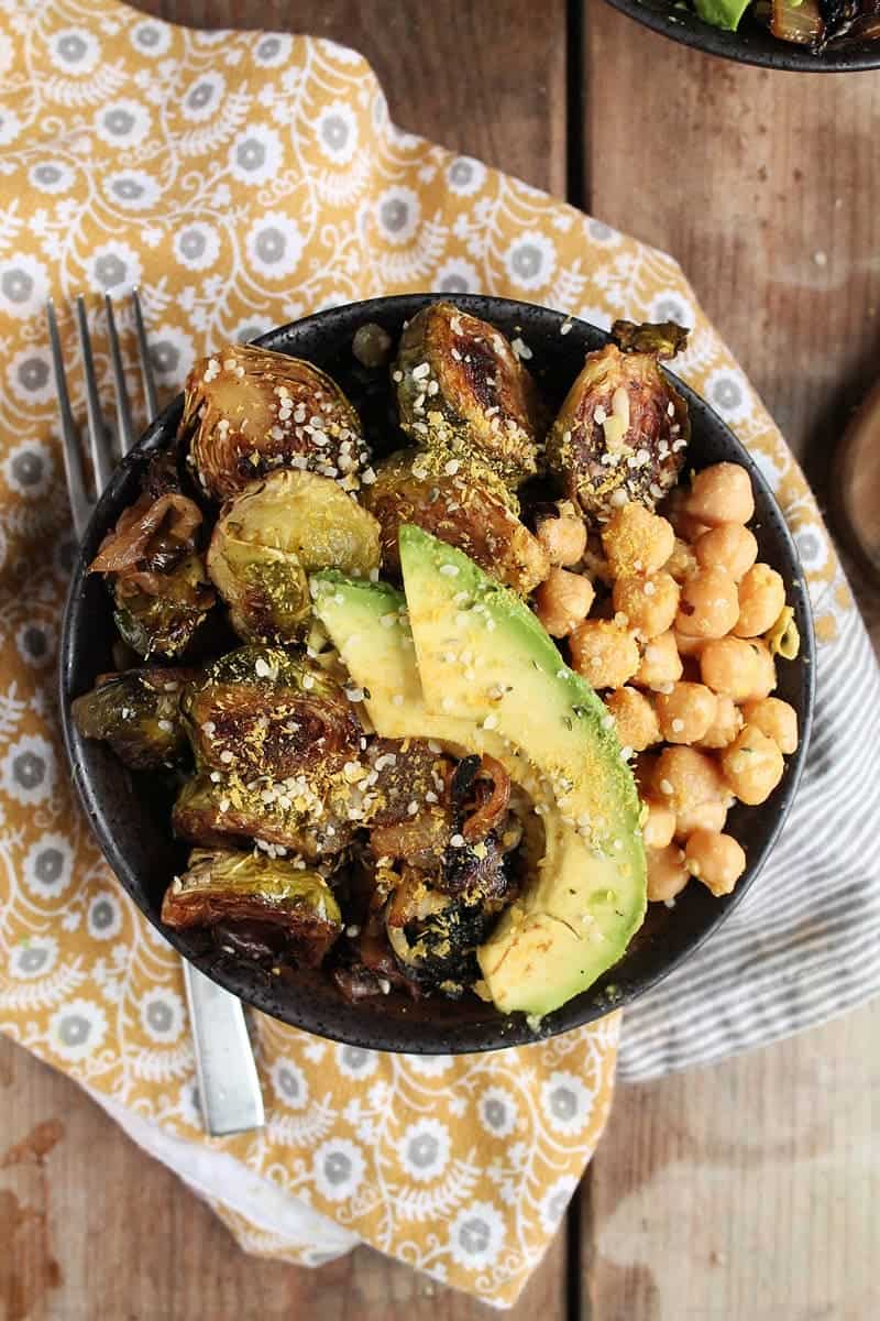 Roasted Brussels Sprouts Buddha Bowl
