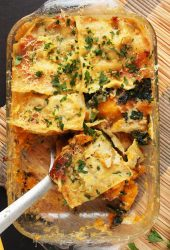 Butternut Squash and Kale Lasagna with Bechamel Sauce