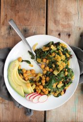 Swiss Chard Chickpea Scramble