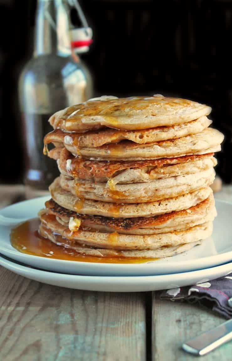 Stack of vegan pancakes