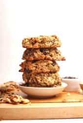 Stack of vegan breakfast cookies