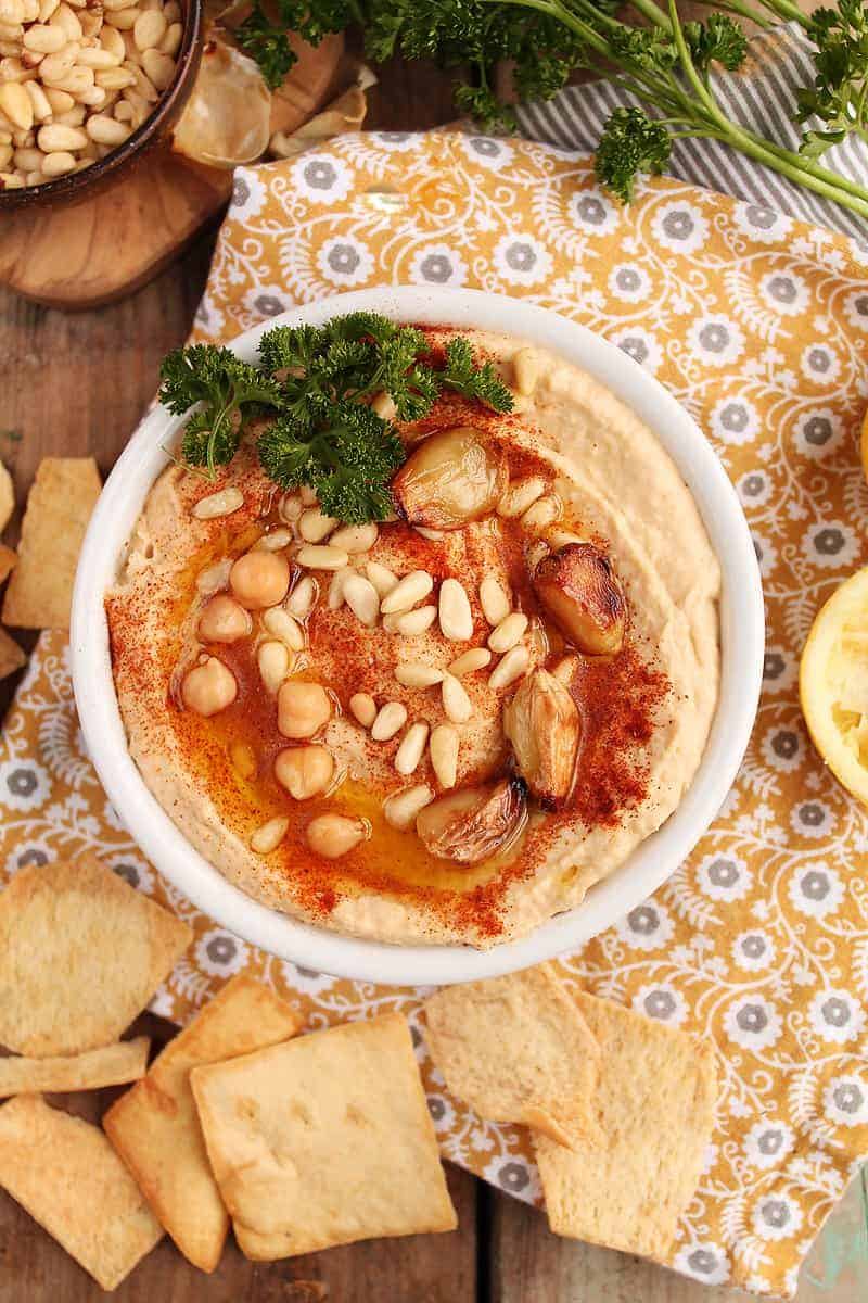 Roasted Garlic Hummus | My Darling Vegan
