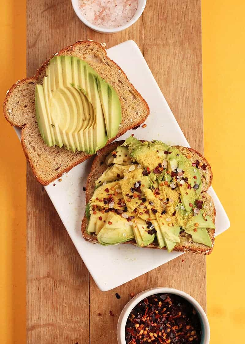 Easy Avocado Toast with red pepper flakes