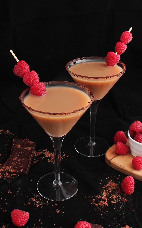 Vegan Chocolate Raspberry Martini | My Darling Vegan