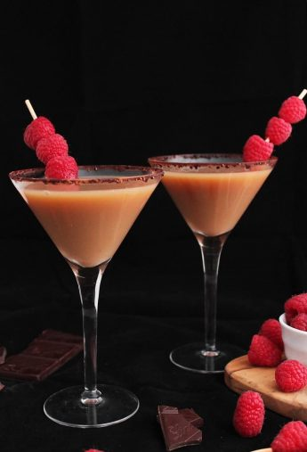 Vegan Chocolate Raspberry Martini