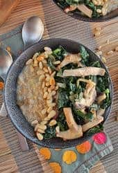 Shiitake Mushrooms and Kale Savory Oatmeal