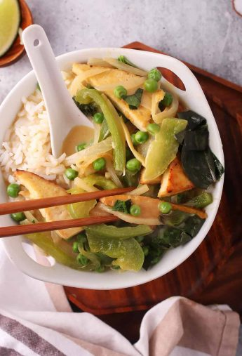 Vegan Thai Green Curry with Tofu